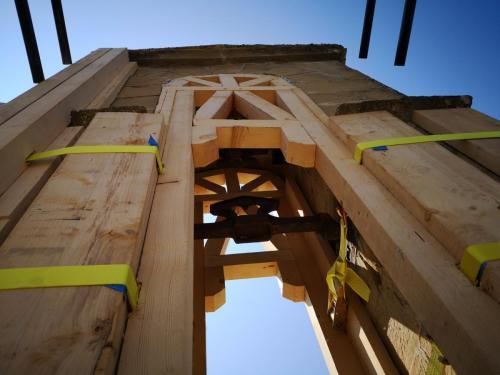 Cassino / 31 agosto 2018 Messa in sicurezza della Chiesa di S. Lorenzo Martire
